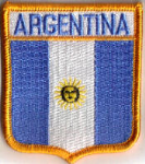 Argentina Embroidered Flag Patch, style 06.